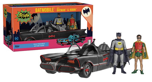 Funko DC Batman 1966 TV Series Batmobile, Batman & Robin Action Figure Set [Damaged Package]