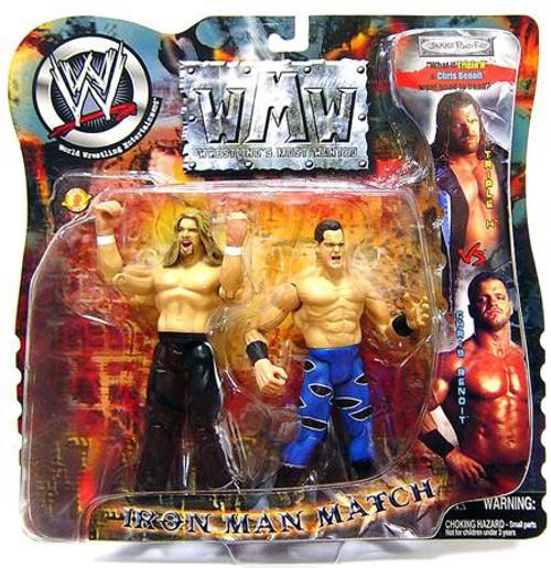WWE Wrestling Wrestling's Most Wanted Chris Benoit Vs. Triple H Action Figure 2-Pack [Loose]