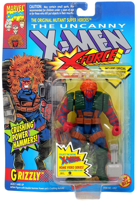 Marvel The Uncanny X-Men X-Force Grizzly Action Figure [Crushing Power Hammers!]