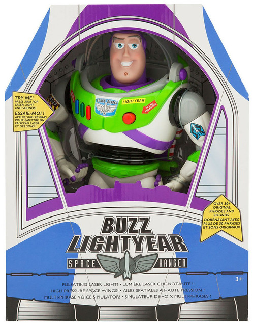 Disney Toy Story Buzz Lightyear Exclusive Talking Action Figure [2019 Version, 30+ Phrases & Sounds, Damaged Package]