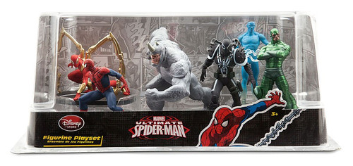 Disney Marvel Ultimate Spider-Man 6-Piece PVC Figure Play Set [Spider-Man, Rhino, Agent Venom, Electro, Scorpion & Iron Spider, Damaged Package]