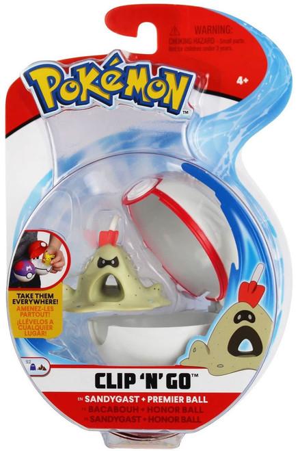 Pokemon Clip 'N' Go Sandygast & Premier Ball Figure Set