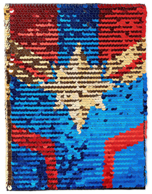 Disney Captain Marvel Reversible Sequins Exclusive Journal