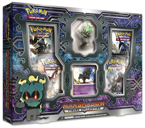 Pokemon Trading Card Game Sun & Moon Burning Shadows Marshadow Figure Collection Box [4 Booster Packs & Figure!]