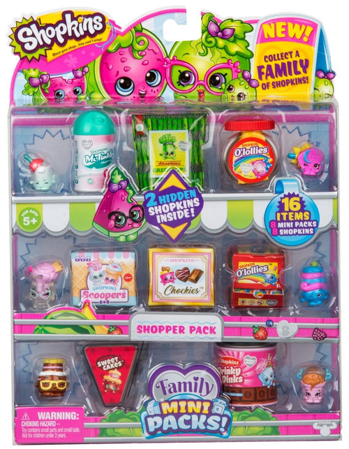Shopkins Family Mini Packs! Season 11 Mini Packs! Shopper 8-Pack