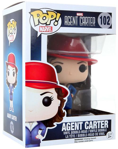 Funko POP! Marvel Agent Carter Exclusive Vinyl Bobble Head #102 [Trans-Gold Orb, Damaged Package]