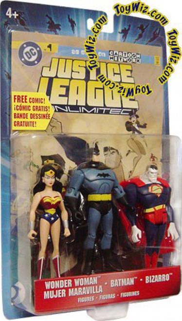 Justice League Unlimited Series 5 Wonder Woman, Batman & Bizarro Action Figure 3-Pack
