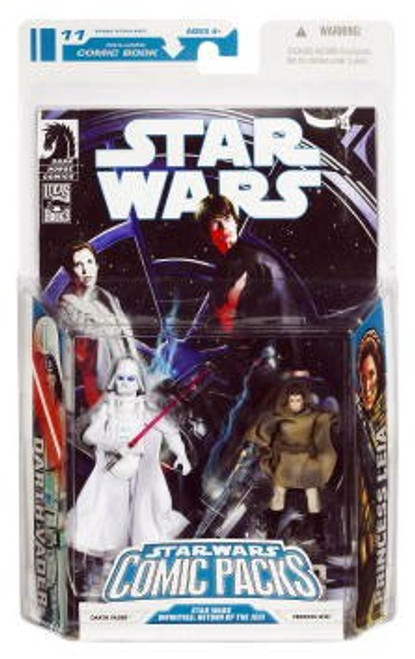 Star Wars Return of the Jedi 2009 Comic Packs Darth Vader [White] & Princess Leia Action Figure 2-Pack