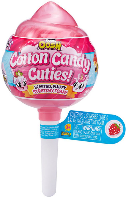 Oosh Cotton Candy Cuties Stretchy Foam Series 1 MEDIUM Pop PINK Mystery Pack