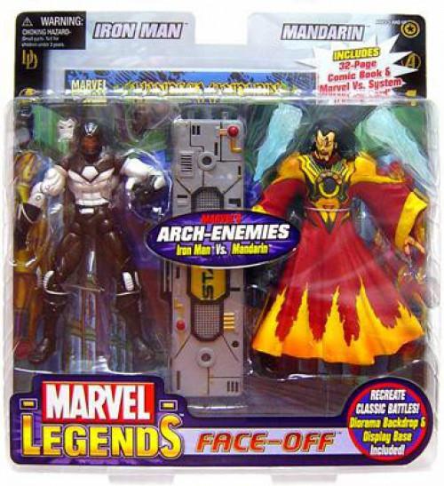 Marvel Legends Face Off Series 2 War Machine vs. Mandarin Action Figure 2-Pack [Red Variant]