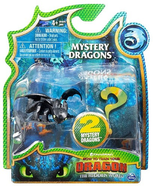How to Train Your Dragon The Hidden World Mystery Dragons Toothless Mystery 2-Pack [Regular, All Black]