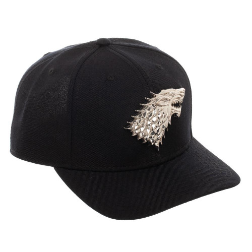 Game of Thrones House Stark Silver Sigil Snapback Cap