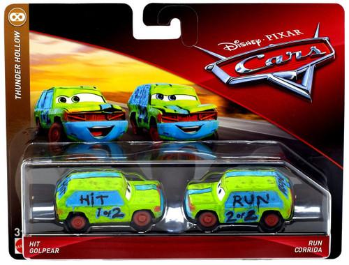 Disney / Pixar Cars Cars 3 Thunder Hollow Hit Golpear & Run Corrida Diecast 2-Pack