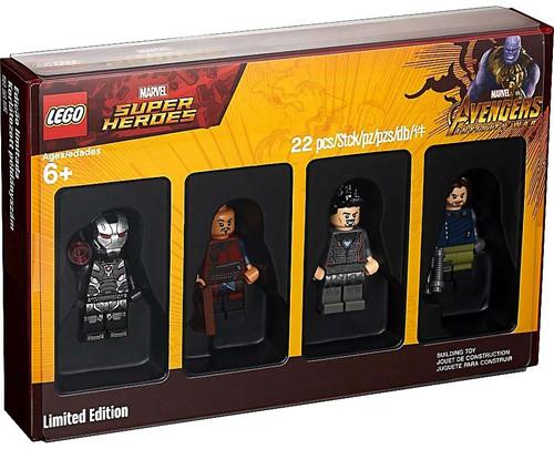 LEGO Marvel Super Heroes Avengers Infinity War War Machine, Tony Stark, Bucky Barnes & Wong Minifigure 4-Pack Set #505256