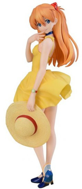 Sega Neon Genesis Evangelion New Movie Asuka Langly Sohryu 9-Inch Collectible PVC Figure [Summer Dress]