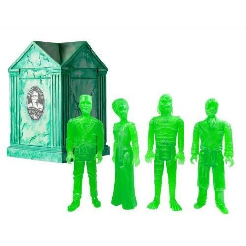 ReAction Universal Monsters Haunted Crypt Action Figures [Clear Glow Green]