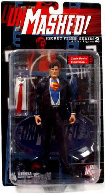 DC Secret Files Series 2 Unmasked Clark Kent / Superman Action Figure