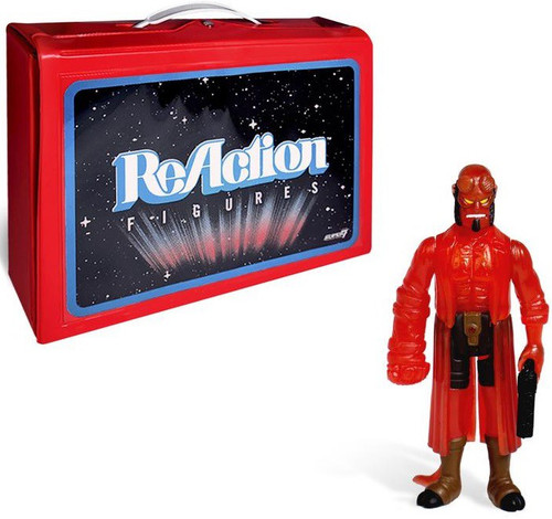 ReAction Hellboy with Carry Case Exclusive Action Figure & Carry Case [Clear Red]