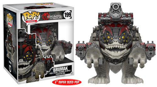 Funko Gears of War POP! Games Burmak 6-Inch Vinyl Figure #199 [Super-Sized, Damaged Package]