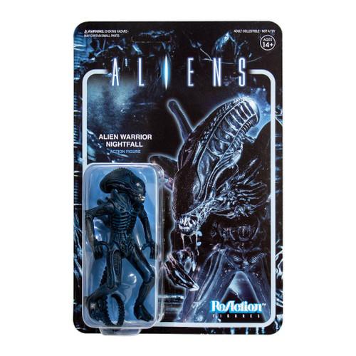 ReAction Aliens Alien Warrior Nightfall Blue Action Figure
