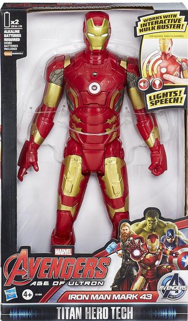 Marvel Avengers Age of Ultron Titan Hero Tech Iron Man Mark 43 Action Figure [Electronic]