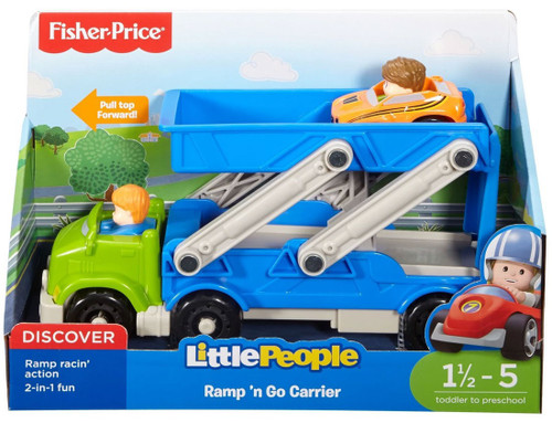 Fisher Price Little People Ramp 'n Go Carrier Vehicle Playset