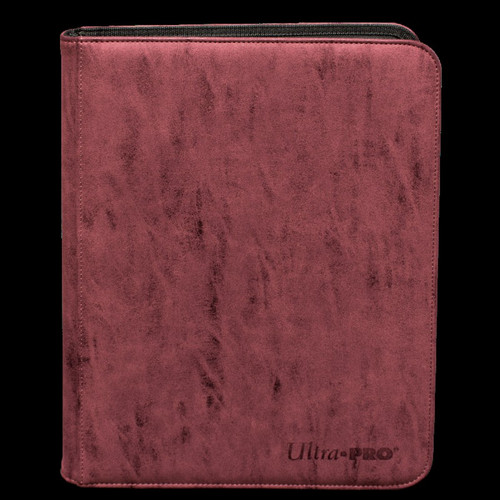 Ultra Pro Suede Collection Ruby 9-Pocket Premium Pro Binder