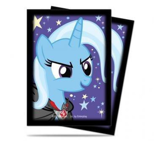 Ultra Pro My Little Pony Collectible Card Game Card Supplies The Great & Powerful Trixie Deck Protector Card Sleeves [65 Count]