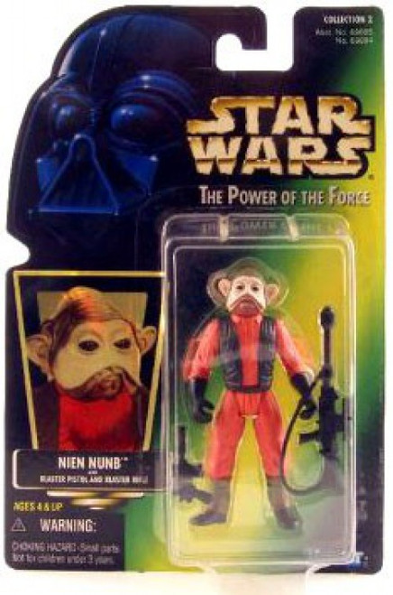 Star Wars Return of the Jedi Power of the Force POTF2 Collection 2 Nien Nunb Action Figure [Hologram Card]