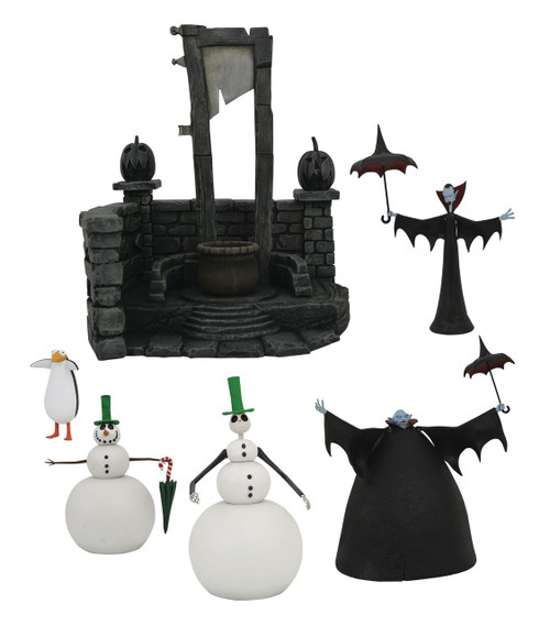 Nightmare Before Christmas Select Series 7 Snowman Jack, Big Vampire & Skinny Vampire Set of 3 Action Figures