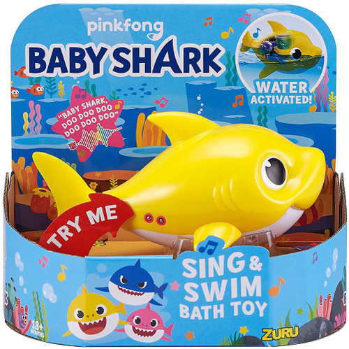Robo Alive Sing & Swim Baby Shark Robotic Bath Toy [Yellow]