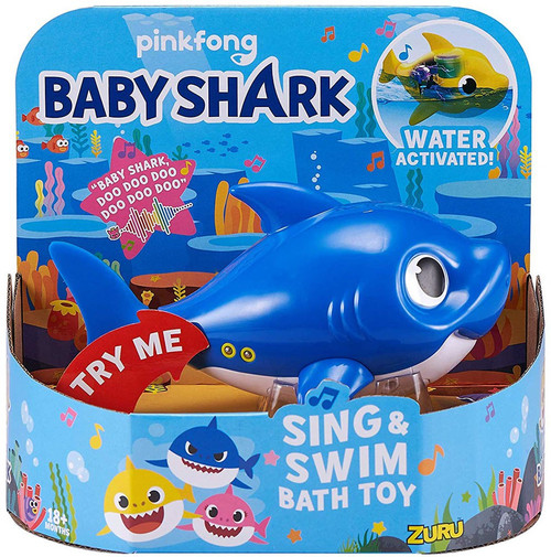 Baby Shark Robo Alive Sing & Swim Daddy Shark Robotic Bath Toy [Blue]