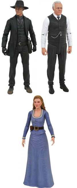 Westworld Select Series 1 Delores, The Man in Black & Dr. Robert Ford Set of 3 Action Figures
