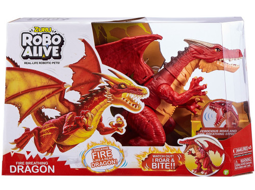 Robo Alive Fire Breathing Dragon Robotic Pet Figure [Red]