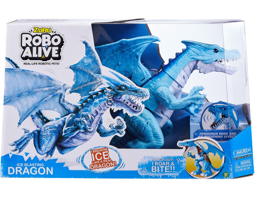 Robo Alive Ice Blasting Dragon Robotic Pet Figure [Blue]