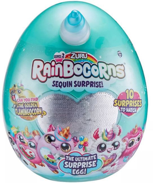 Series 2 Rainbocorns Surprise Mystery Egg Plush [RANDOM Color Plush, Sequins & Animal!]