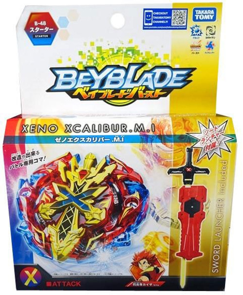 Beyblade Burst Japanese Xeno Xcalibur M.I Starter B-48