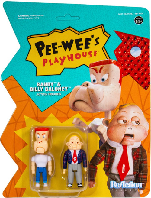 ReAction Pee Wees Playhouse Randy & Billy Baloney Action Figure