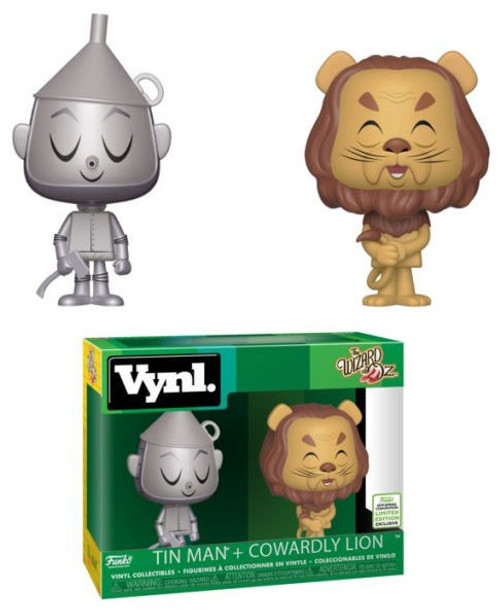 Funko Wizard of Oz Vynl. Tin Man & Cowardly Lion Exclusive Vinyl Figure 3-Pack