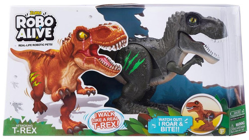 Robo Alive Attacking T-Rex Robotic Pet Figure [Dark Green]