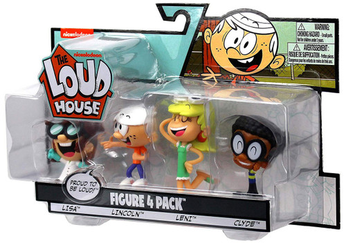 Nickelodeon Loud House Lisa, Lincoln, Leni & Clyde 3-Inch Figure 4-Pack