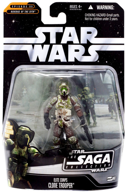 Star Wars Revenge of the Sith 2006 Saga Collection Clone Trooper Action Figure #65 [Elite Corps]