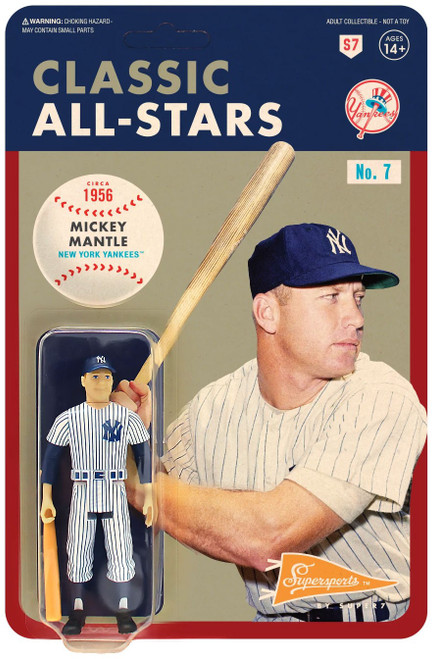 ReAction MLB Classic All-Stars New York Yankees Mickey Mantle Action Figure