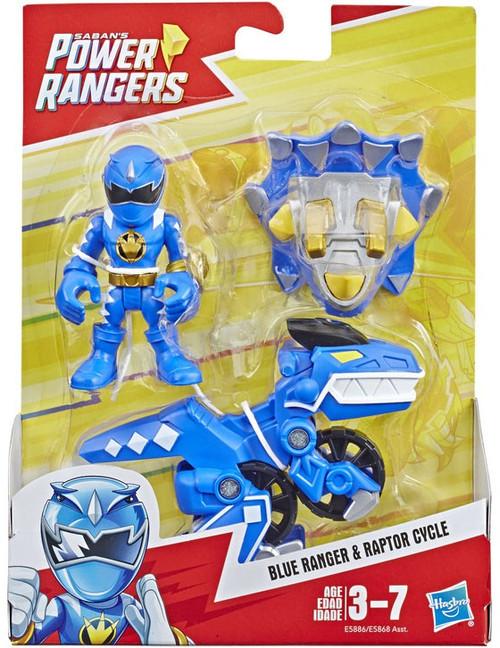 Power Rangers Playskool Heroes Blue Ranger & Raptor Cycle Figure 2-Pack