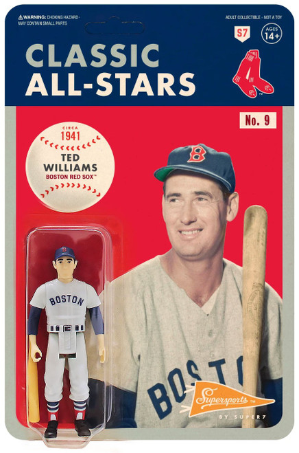ReAction MLB Classic All-Stars Boston Red Sox Ted Williams Action Figure