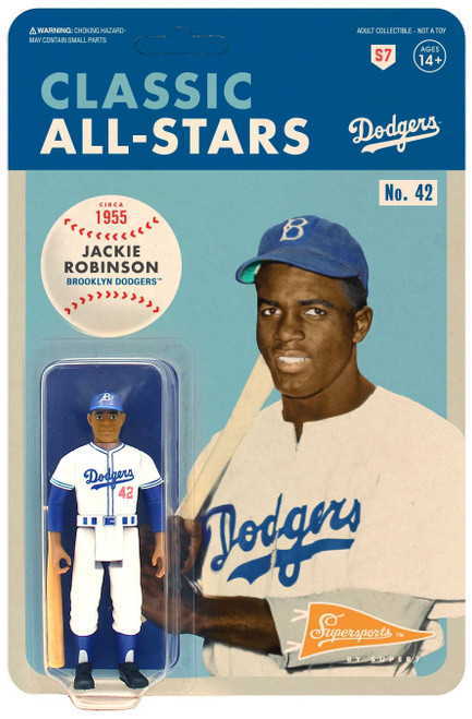ReAction MLB Classic All-Stars Brooklyn Dodgers Jackie Robinson Action Figure