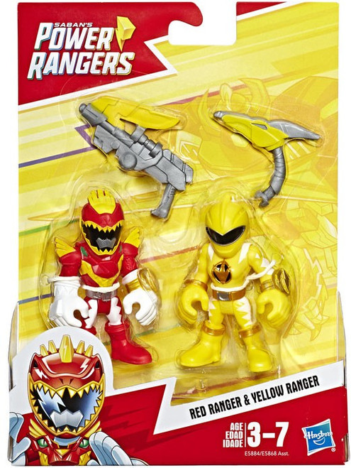 Power Rangers Playskool Heroes Red Ranger & Yellow Ranger Figure 2-Pack