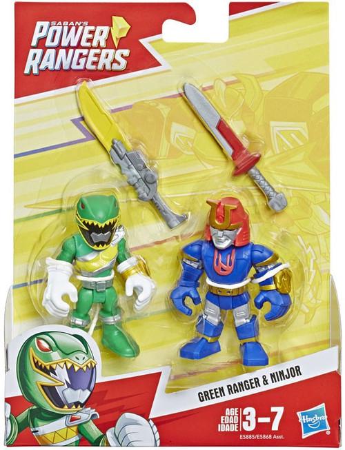 Power Rangers Playskool Heroes Green Ranger & Ninjor Figure 2-Pack