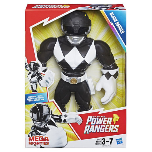 Power Rangers Playskool Heroes Mega Mighties Black Ranger 10-Inch Figure