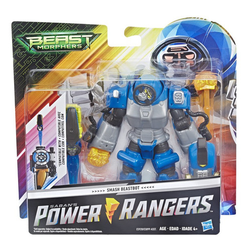 Power Rangers Beast Morphers Smash Blue Beastbot 6-Inch Deluxe Figure